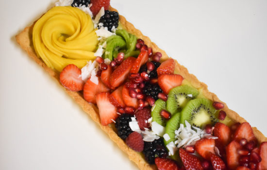 Bakery Style Fruit Tart with Vanilla Pastry Cream